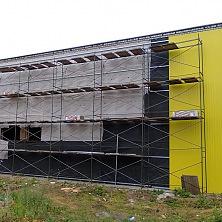 При реконструкции было произведено утепление стен картофелехранилища