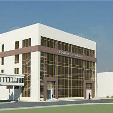 Архитектурное решение фасада. Проект административно-производственного здания