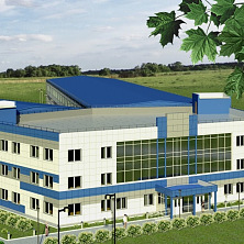 Проектное решение фасада промышленного здания