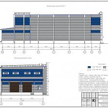 Проект промышленного холодильника - цветовое решение фасада