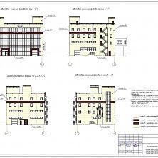 Проектная документация. Цветовое решеине фасада здания