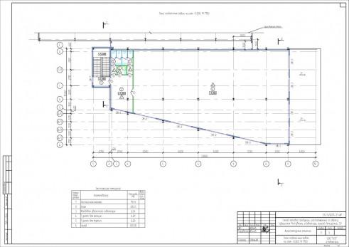 Проект склада готовой продукции (холодильник). План отделочных работ на отметке +7,200