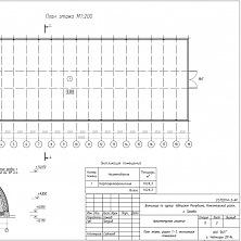 Проектная документация картофелехранилища. План этажа