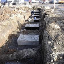 Устройство фундамента . Строительство станции технического обслуживания