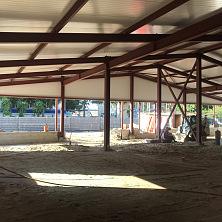 Подготовка основы для бетонного пола вибропрессующим оборудованием