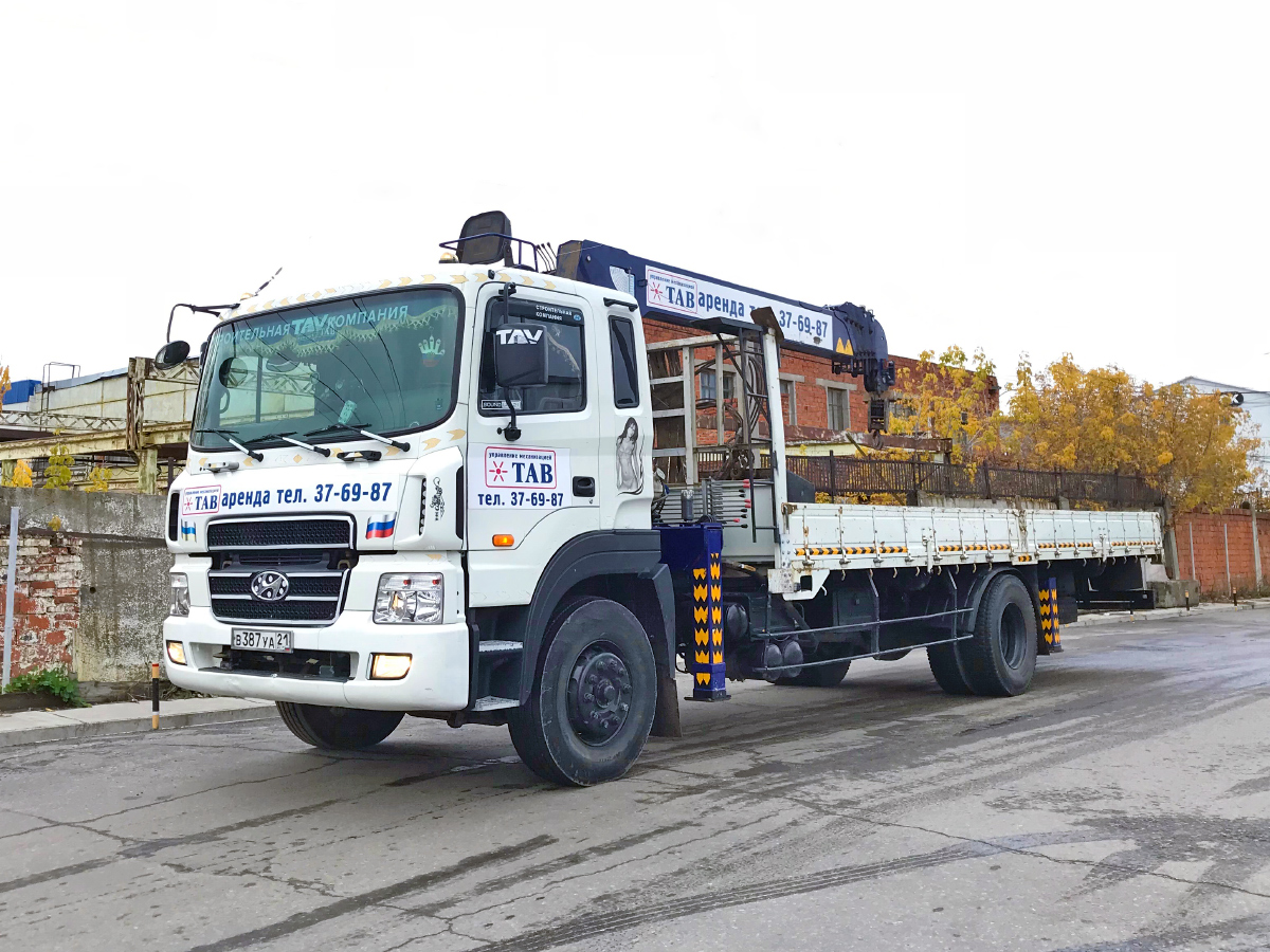 Аренда манипулятор Hyundai 7 тонн в Чебоксарах