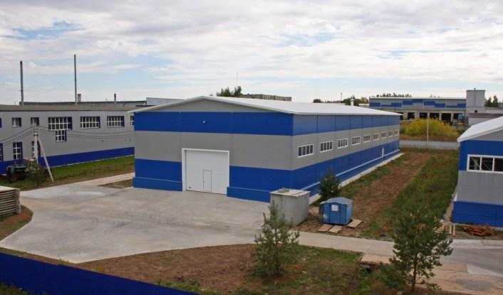 Готовое здание промышленного цеха для ООО Тимук. Построено и сдано заказчику компанией СК ТАВ в 2017 году