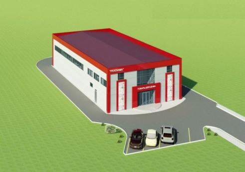 Проект торгово-складского центра из металлокаркаса