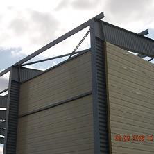 Крепление стен к металлическим конструкциям