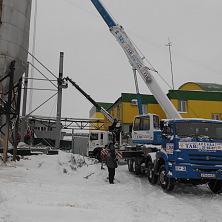 Автокран 32 тонны на стройке варочного цеха в г. Чебоксары