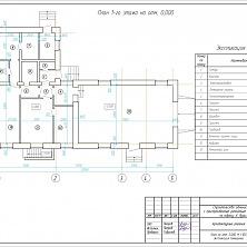 Проект ремонтного цеха с АБК - план первого этажа