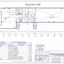 Проект реконструкции склада - план второго этажа