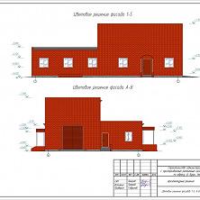 Проектное решение фасада цеха с АБК