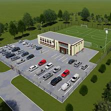 Проект футбюольного стадиона в Чебоксарах. Общий план размещения объектов