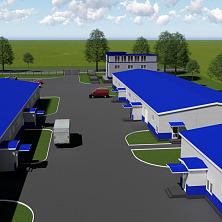 Перспективный план застройки производственного комплекса - общий вид внутренней территории
