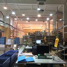На складе после реконструкции установлено оборудование для автоматизации логистических процессов