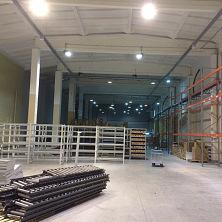 После реконструкции на фармацевтическом складе завезено и готовится к установке конвеерное оборудование