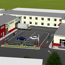 Общий вид предложенной проектом перепланировки торгово-офисной и складской базы