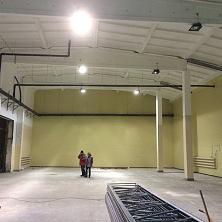 На реконструкции завершено устройство бетонных топпинговых полов