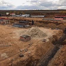 Начало строительства, земляные работы