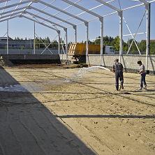Строительство производственного цеха. Подготовка основания под бетонный пол
