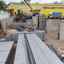 На строительстве склада работает спецтехника Строительной компании ТАВ