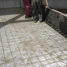 Полы в складе бетонные армированные