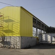 Ограждающие конструкции стен склада - из профилированного листа