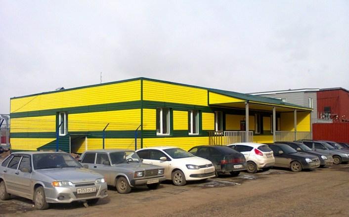 Общий вид здания магазина после реконструкции