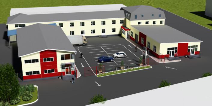 Проект складского комплекса с офисными помещениями и торгово-выставочными залами предложенный СК ТАВ