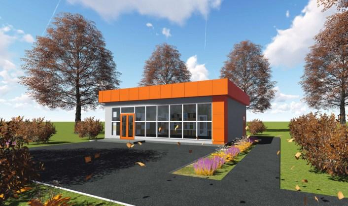 Общий внешний вид предложенного проекта магазина строительных материалов