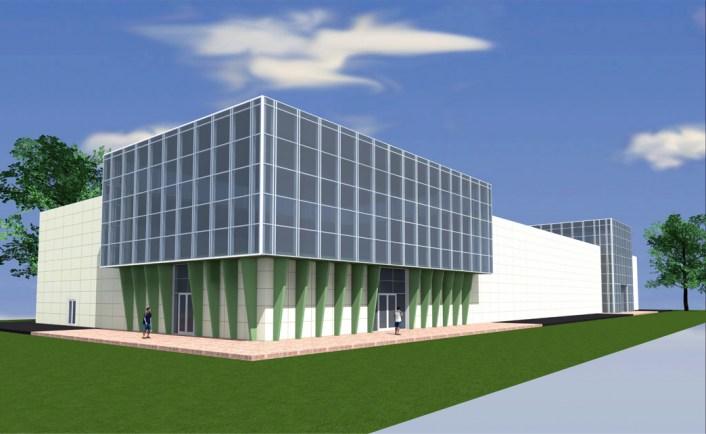Проект торгово-выставочного центра. Разработан компанией СК ТАВ. Заказчик