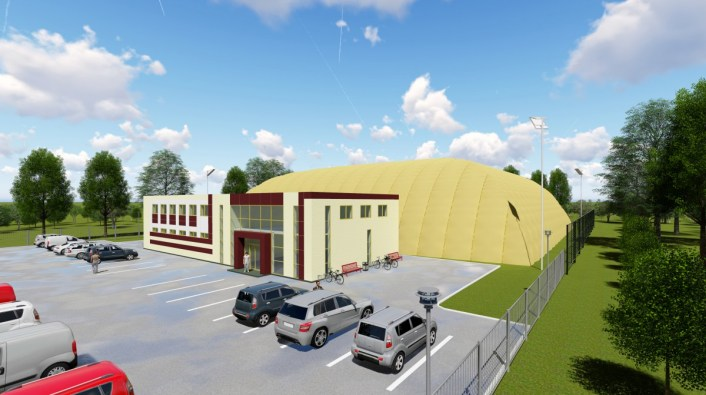 Проект футбольного стадиона в г. Чебоксары. Общий план предлагаемого для постройки стадиона