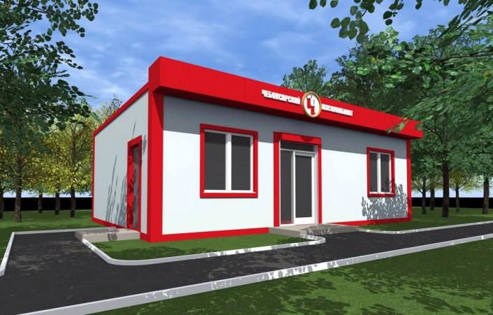 Проект торговой точки для ОАО Чебоксарский мясокмбинат. Выполнен компанией СК ТАВ в 2016 году