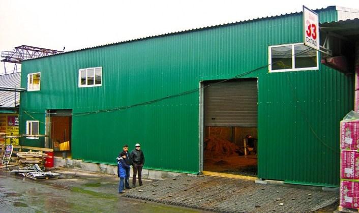 Склад площадью 400 кв. м на территории торгово-складского комплекса Чувашгосснаб, Чебоксары. Построен Строительной компанией ТАВ в 2013 году