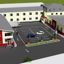 Проект склада с офисами и торгово-выставочным залом