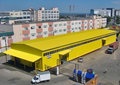 Склад на территории логистического центра, построенный по проекту Строительной компании ТАВ