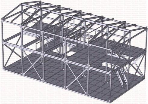 Проект склада логистического центра. Металлокаркас