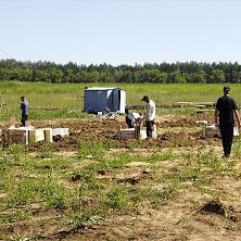 Строительство овощехранилища начинается с земляных работ