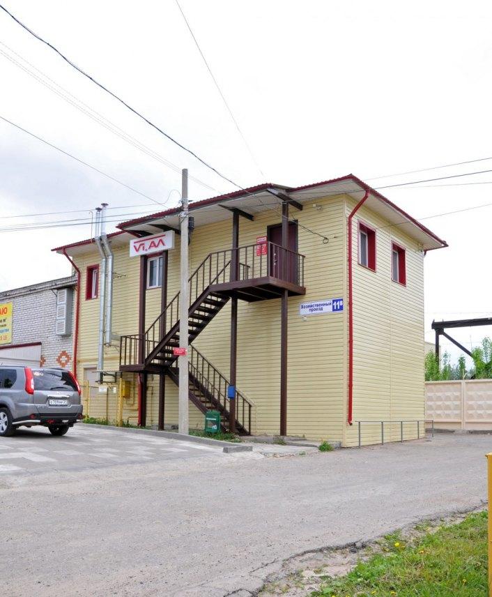 Административное здание с надстроем второго этажа