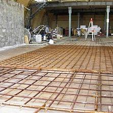 Металлическая сетка - основа будущего бетонного пола