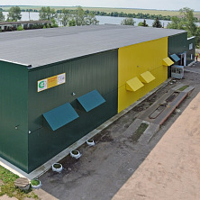 Цветовое решение нового фасада овощехранилища