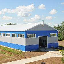 Готовое здание промышленного цеха.