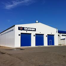 Внешний вид завершенного здания станции технического обслуживания грузовых автомобилей