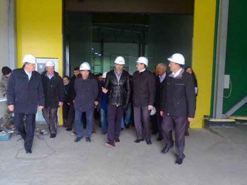 Президент Чувашии М. Игнатьев ознакомился с ходом строительства картофелехранилища строительной компанией ТАВ