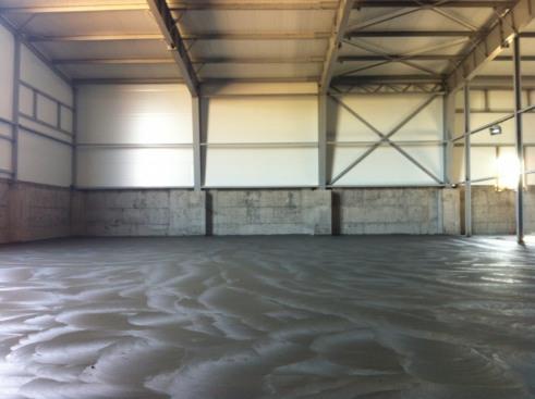 Промышленные бетонные полы в картофелехранилище