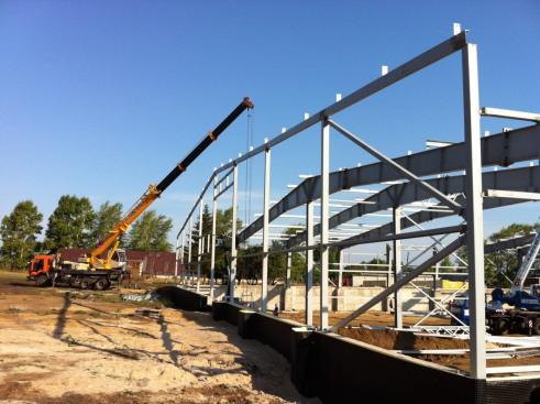 Строительная компания ТАВ использует в строительстве картофелехранилищ металлоконструкции ОренЗМК