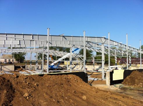 Строительная компания ТАВ использует в строительстве складов металлоконструкции ОренЗМК