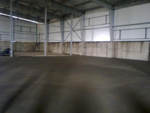 Подготовка основания под бетонные полы картофелехранилища