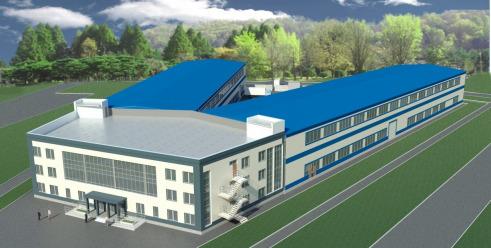 Проект административного здания и промышленного комплекса площадью 8000 кв.м